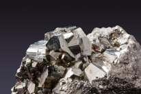 Pyrite crystal shiny silver rock